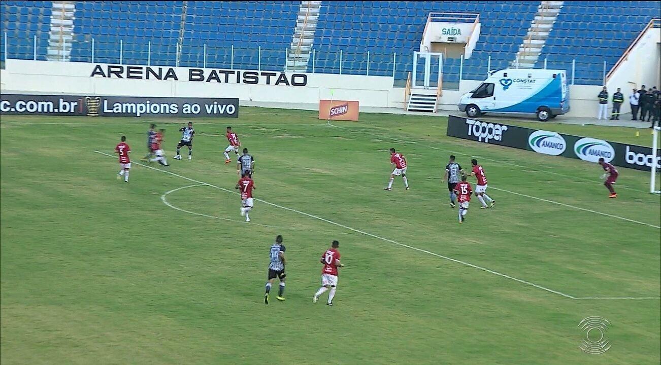 Veja os gols da vitória do Botafogo-PB sobre o Sergipe, pela Copa do Nordeste