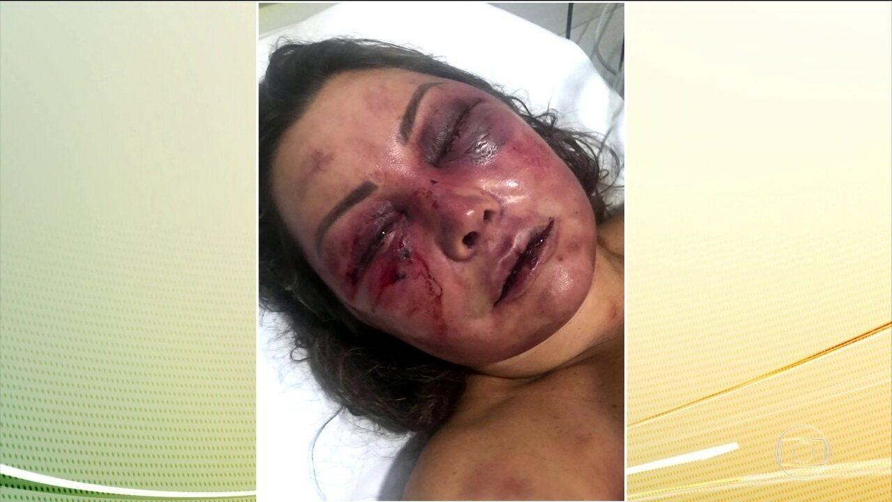Mulher espancada em encontro segue internada no Rio