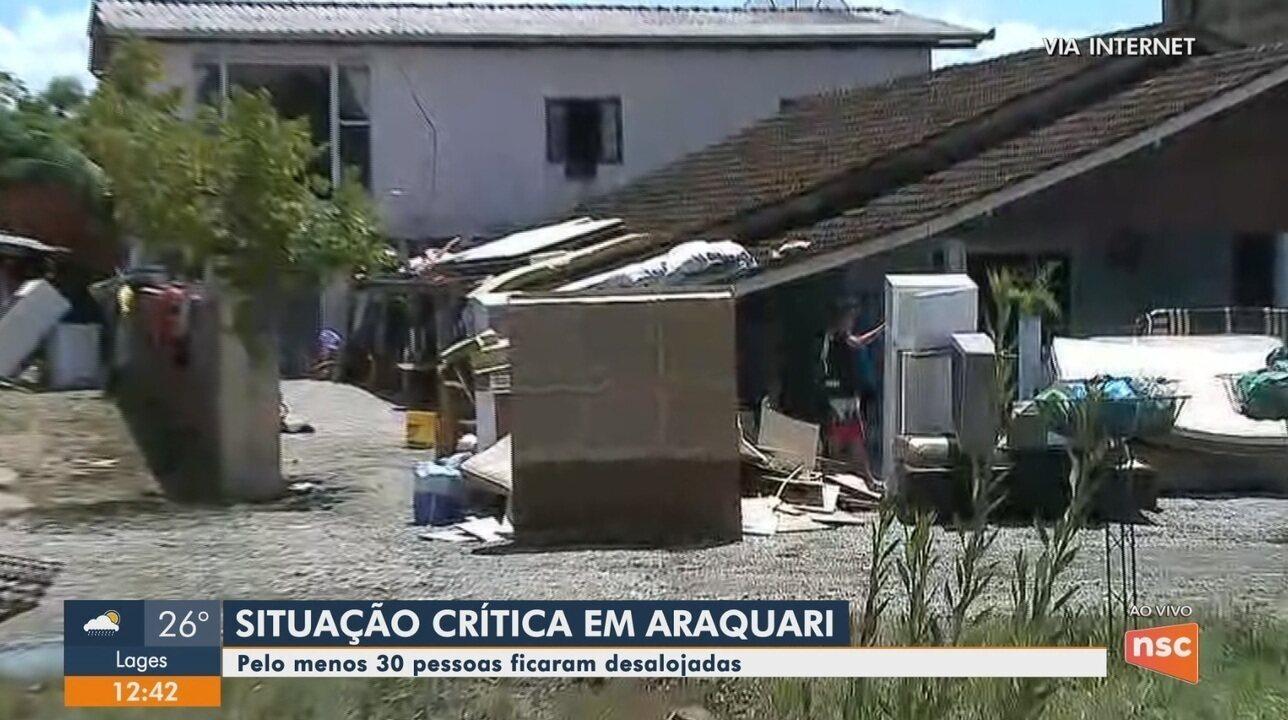 Araquari e Barra Velha decretam situação de emergência após chuva