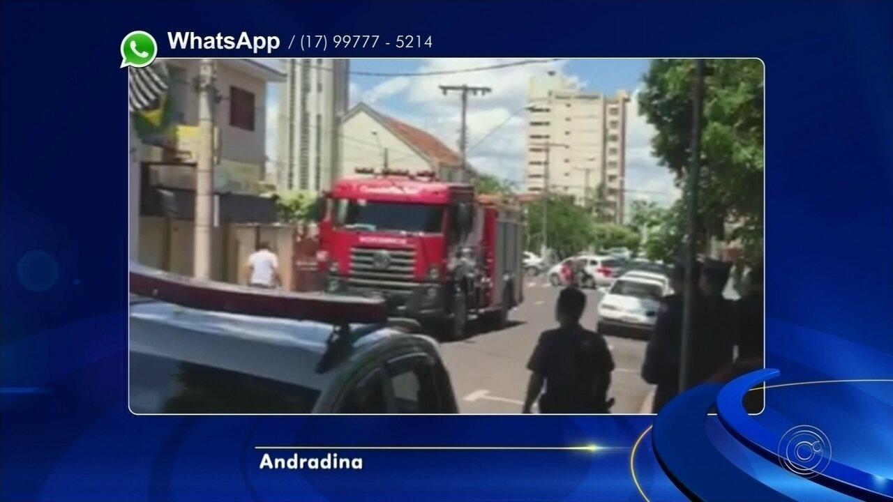 Curto-circuito provoca incêndio em prédio da Justiça Federal em Andradina