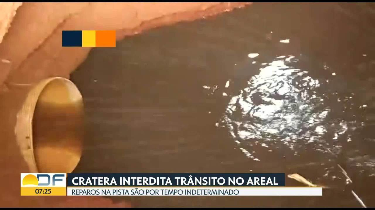 Cratera interdita trânsito no Areal