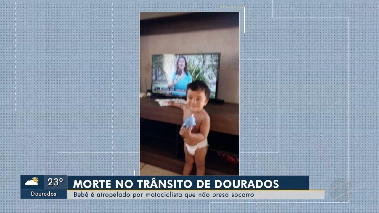 Bebê morre atropelado em Dourados e motociclista foge