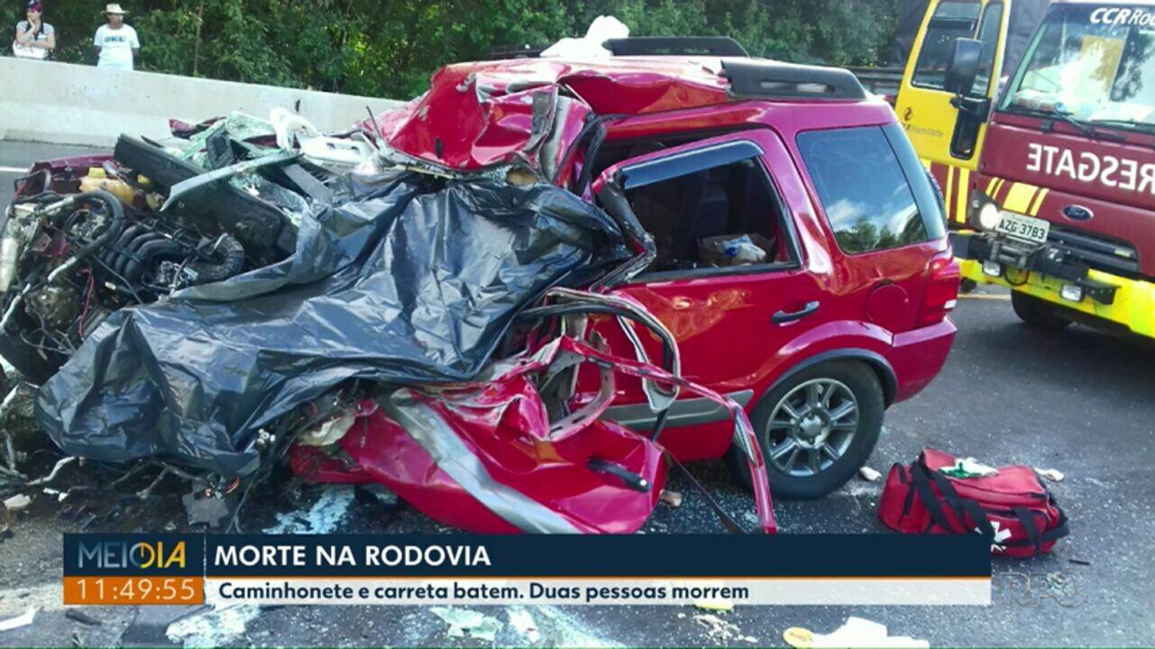 Duas pessoas morrem em acidente na BR-376 na região de Imbaú