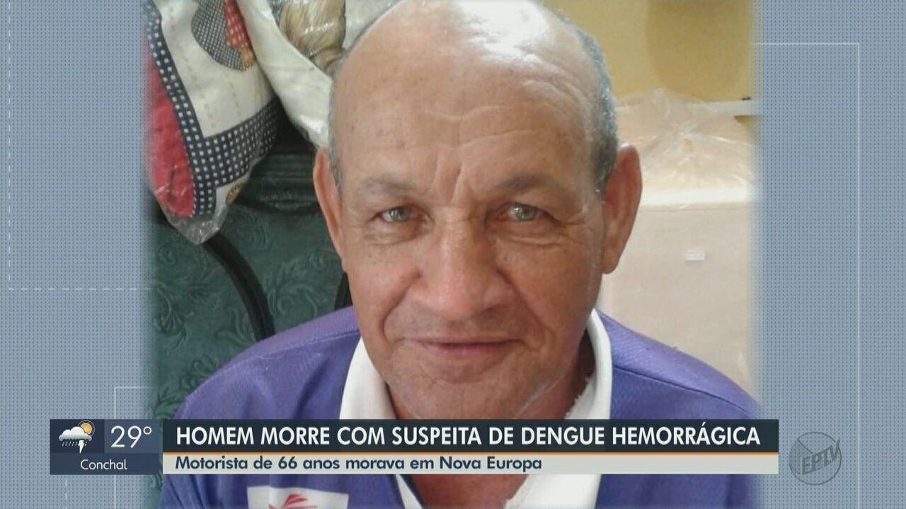 Homem morre com suspeita de dengue em Nova Europa