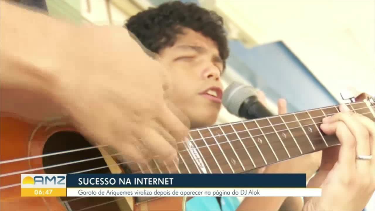 Menino de Ariquemes viraliza na internet após aparecer na página do DJ Alok