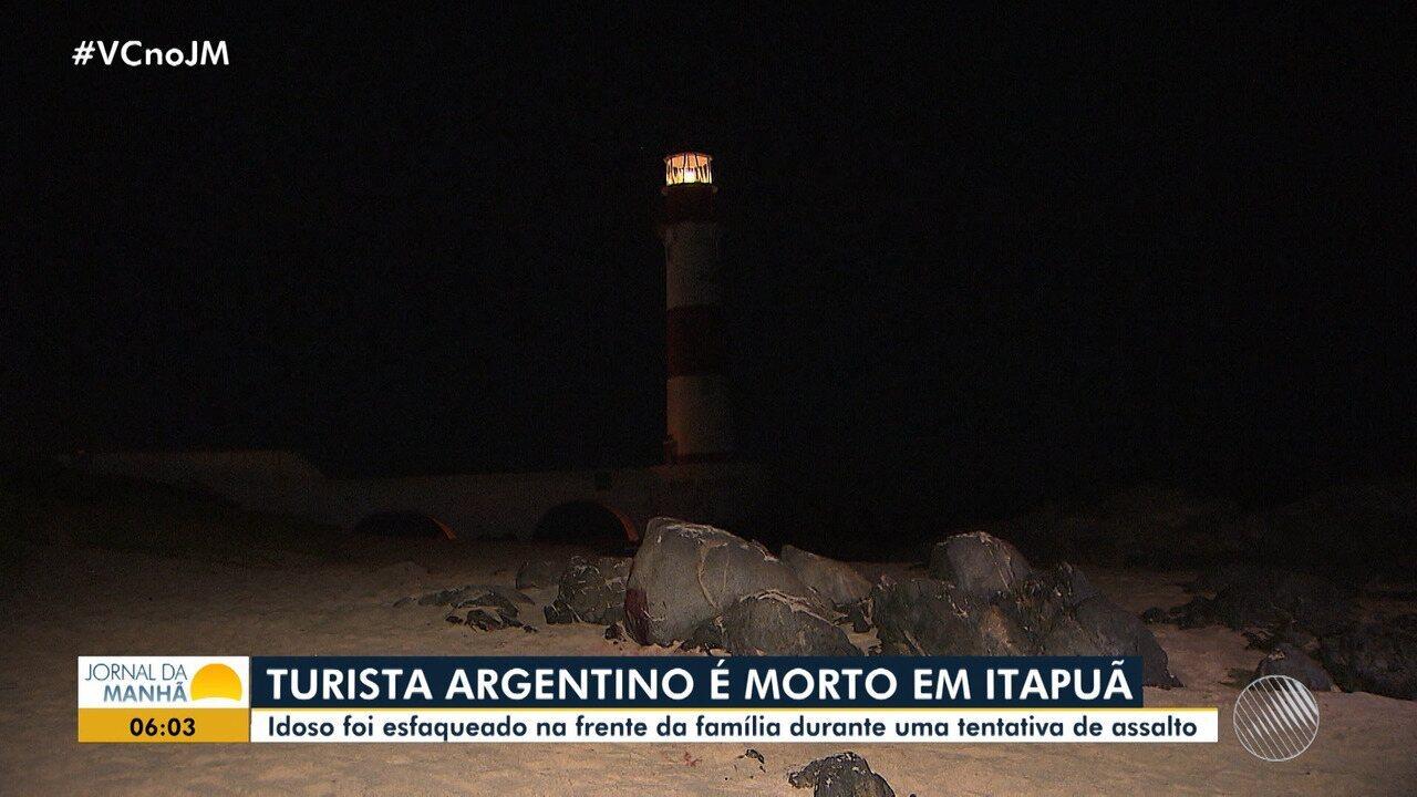 Turista argentino é morto durante tentativa de assalto em Itapuã