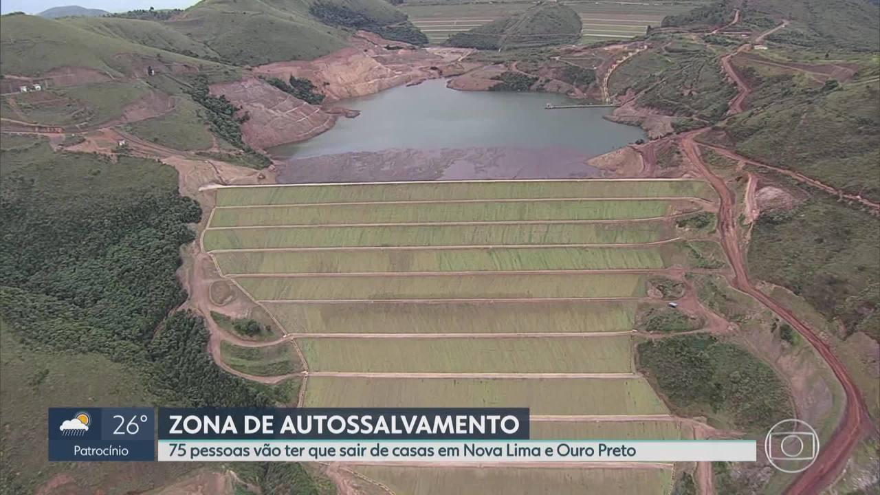 75 vizinhos de barragens da Vale em Nova Lima e Ouro Preto também serão retirados de casa