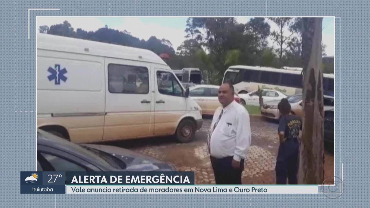 Vale anuncia retirada de moradores de Ouro Preto e de Nova Lima