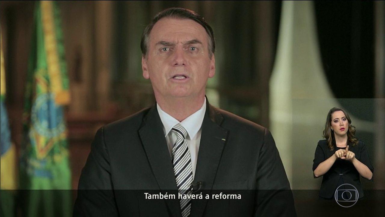 Jair Bolsonaro faz pronunciamento sobre proposta da reforma da Previdência