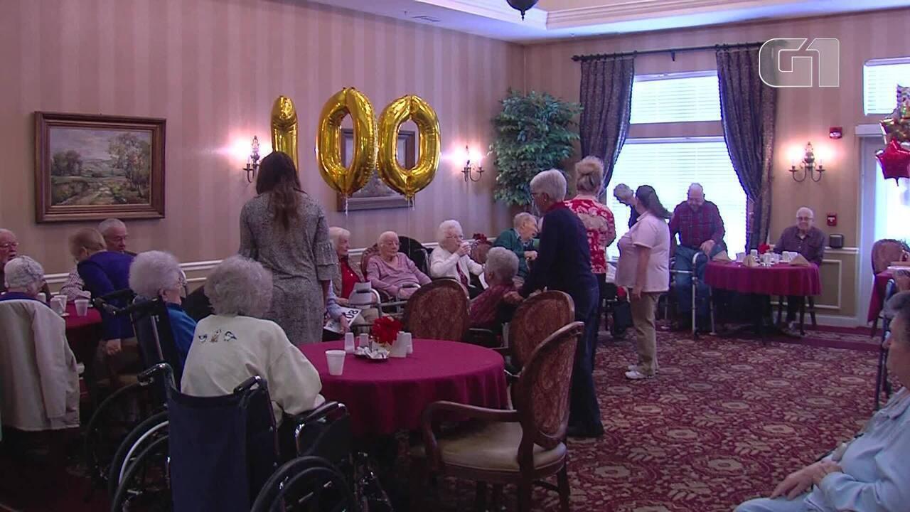 Oito centenários comemoram aniversários juntos nos EUA