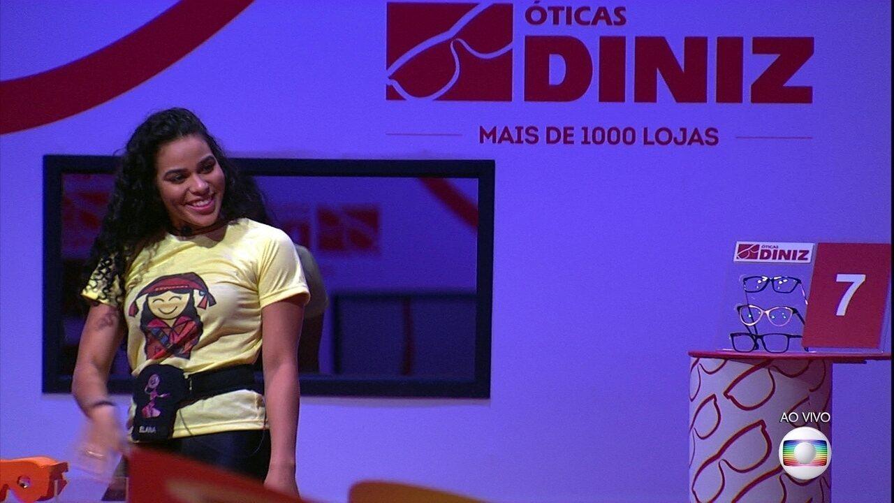 Prova do Líder Alvo: Elana sai na frente na sétima rodada
