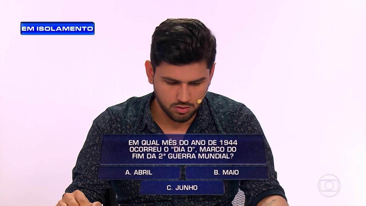 Daniel tenta responder perguntas na segunda rodada do 'The Wall'