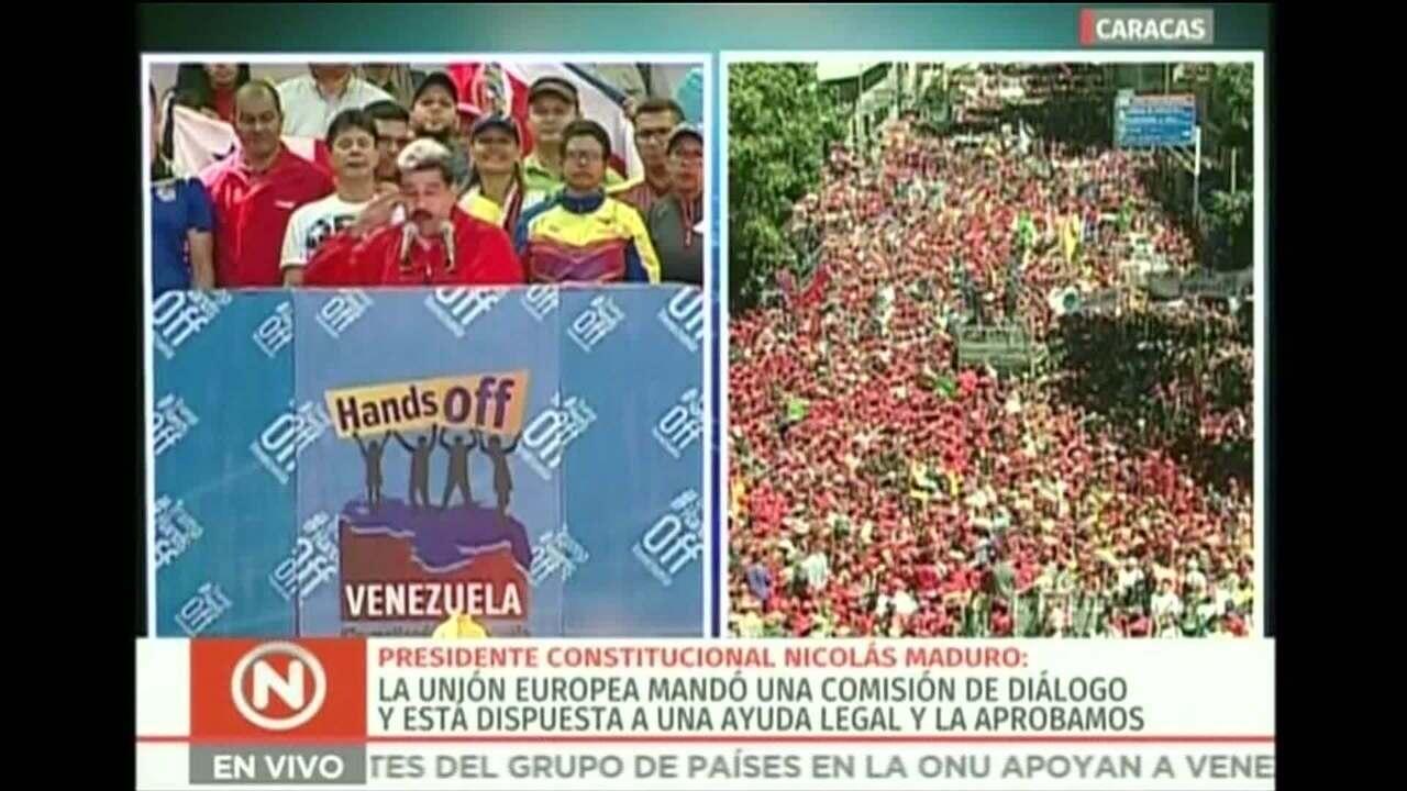 'Querem trazer caminhões com leite em pó? Pago agora', diz Maduro em um recado ao Brasil