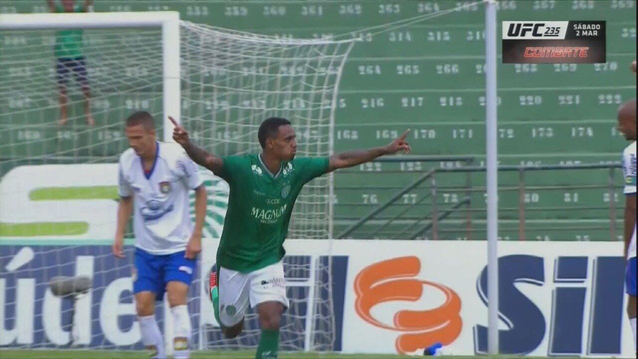 Os melhores momentos de Guarani 2x1 São Caetano pela oitava rodada do Campeonato Paulista