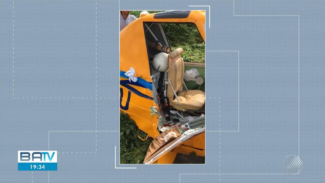 Piloto morre após avião agrícola cair sobre plantação de soja, no oeste do estado