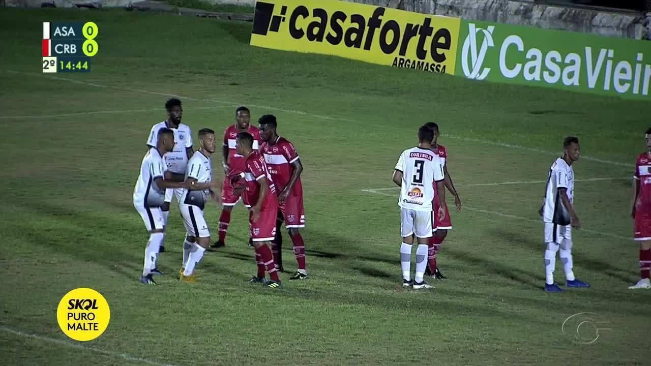 Luis Eduardo faz o gol do ASA na vitória sobre o CRB
