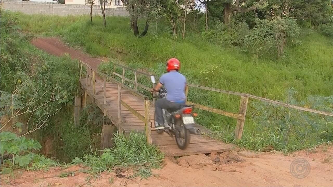 Ponte com más condições em bairro de Boituva traz insegurança aos moradores