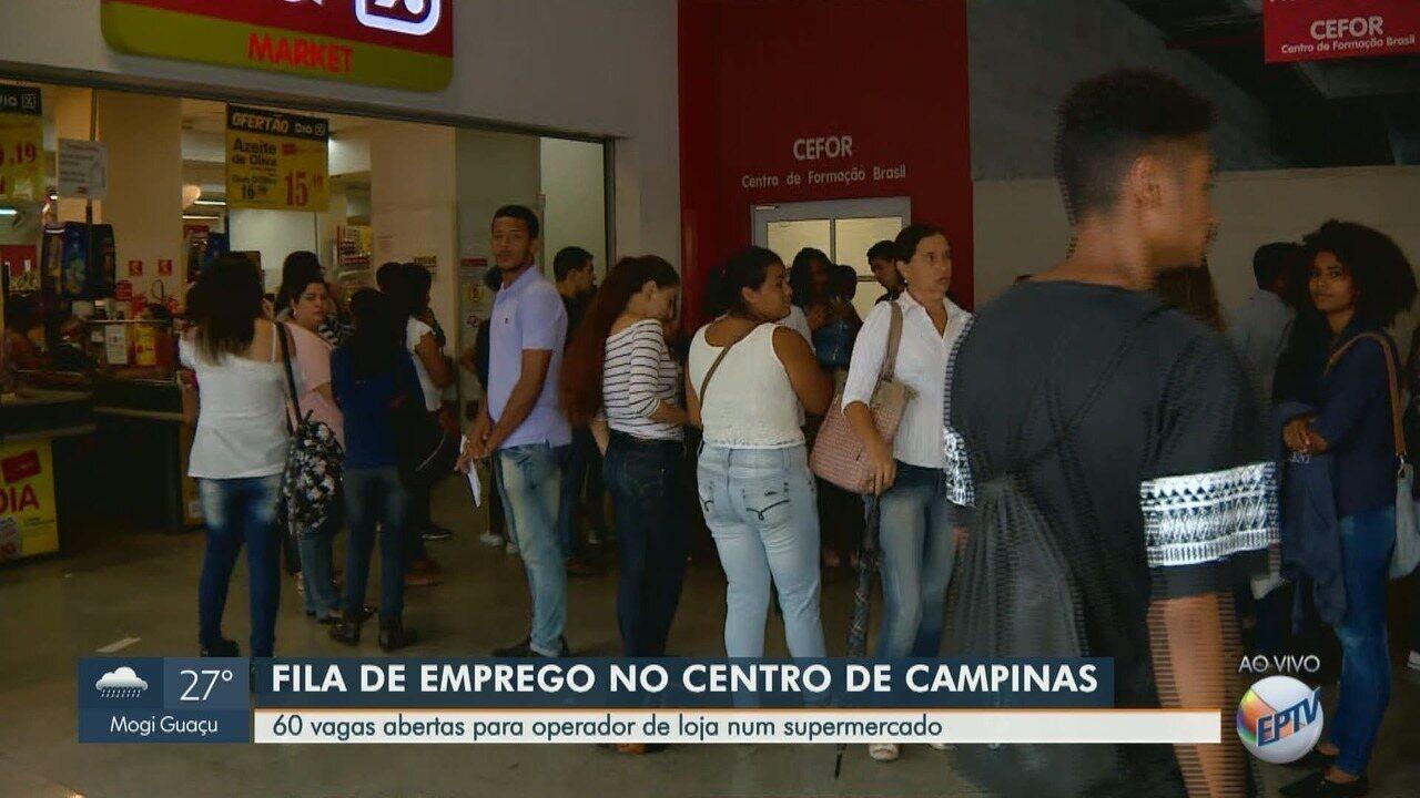 'Blitz do Emprego': vagas para operador de loja geram fila em Campinas