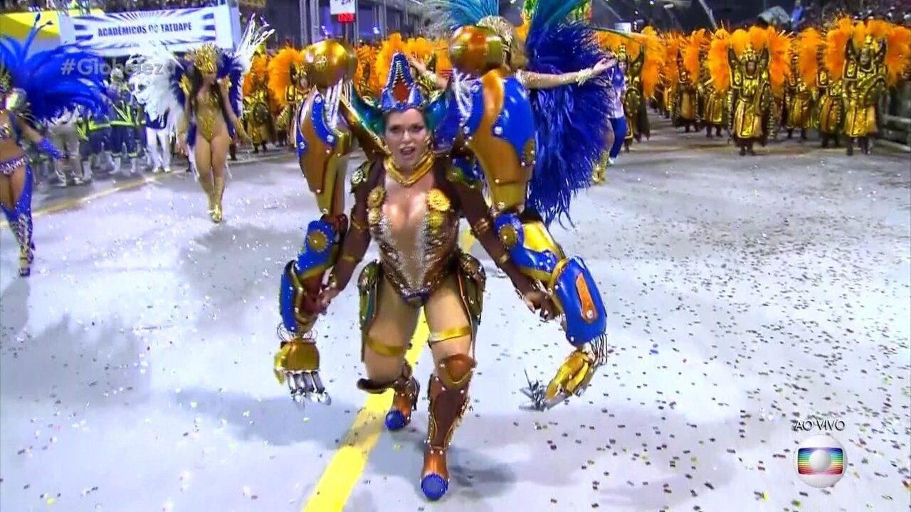 Musas da Acadêmicos do Tatuapé no carnaval de 2019