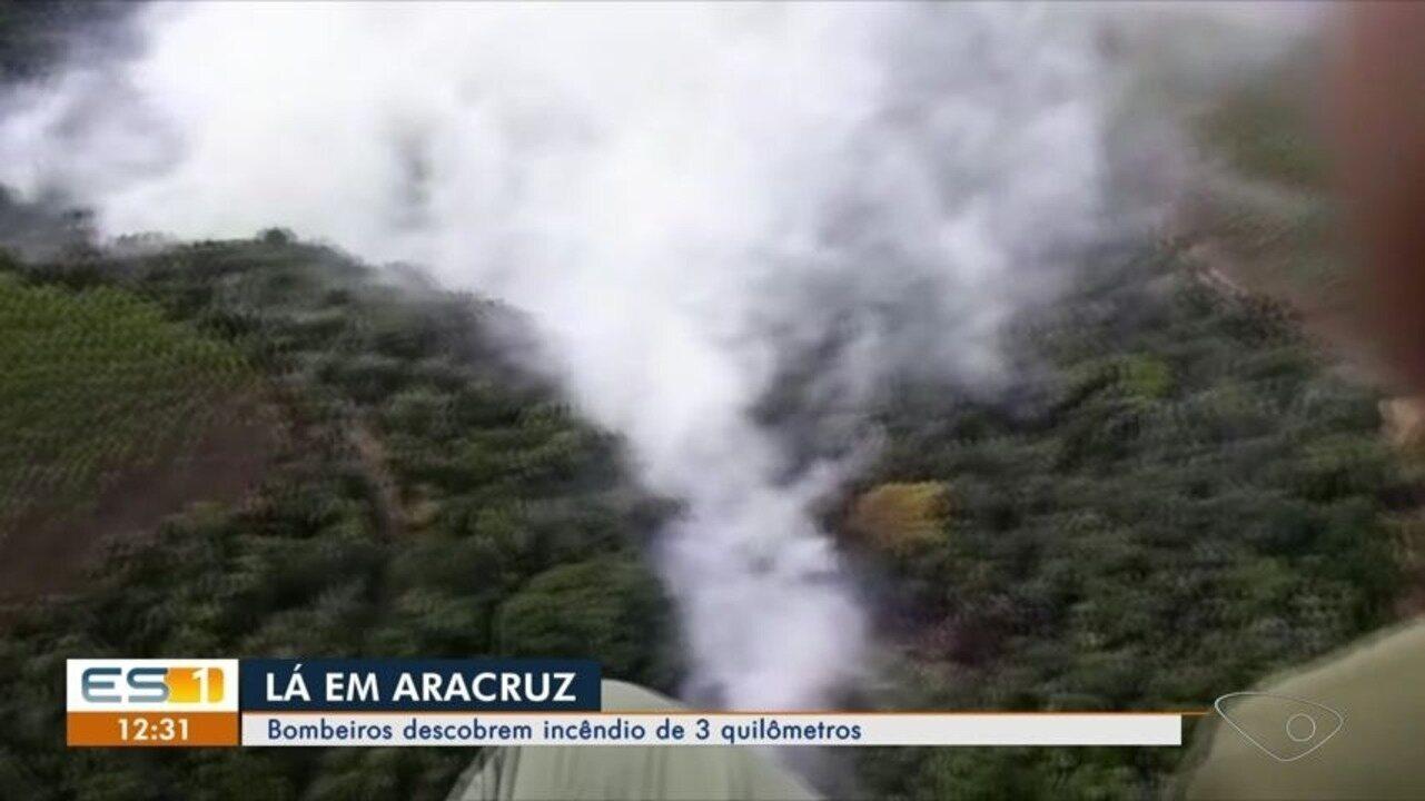 Incêndio em vegetação de Aracruz é descoberto por bombeiros, ES