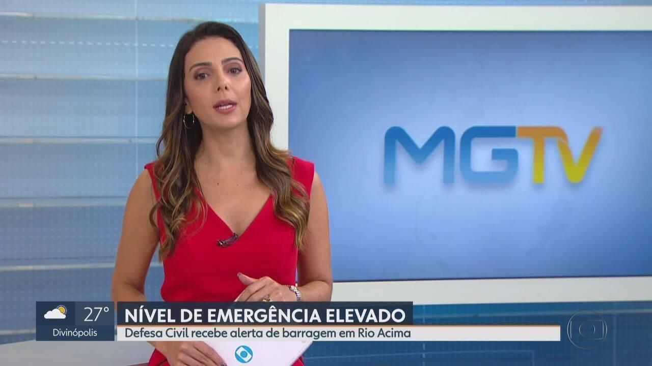Defesa Civil recebe notificação para elevar nível de emergência de barragem em Rio Acima