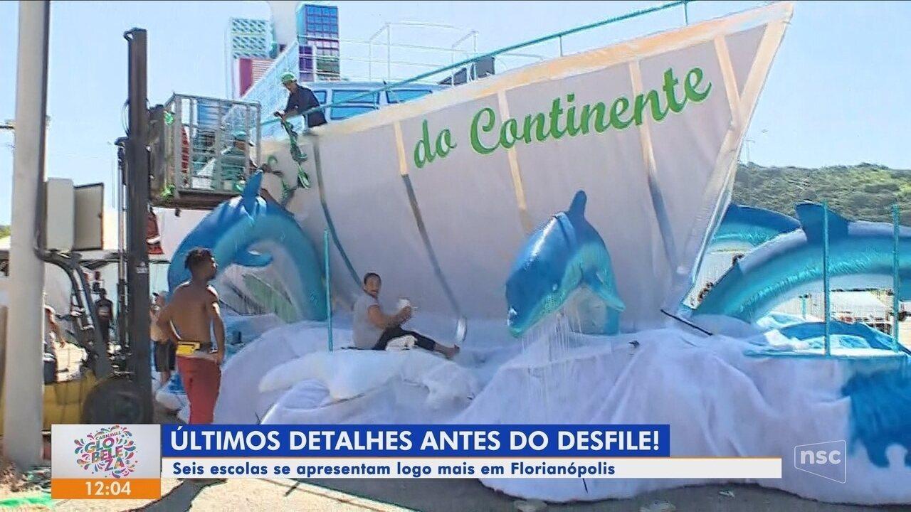 Escolas de samba de Florianópolis se preparam para o desfile deste sábado (2)