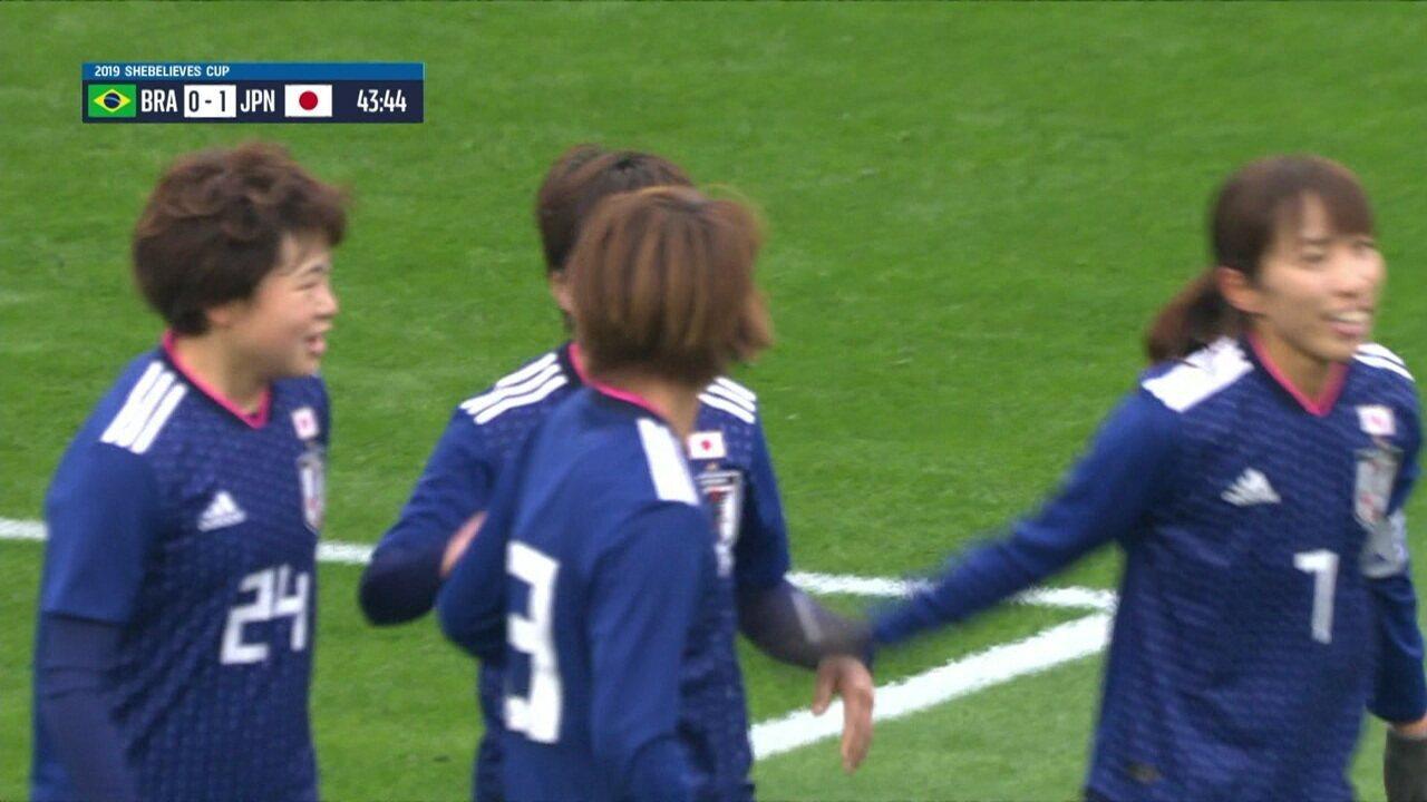 Melhores momentos de Brasil 1 x 3 Japão pela SheBelieves Cup 2019