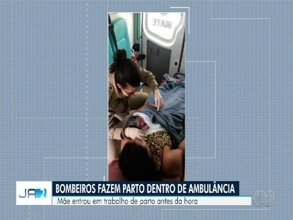 Bombeiros fazem parto dentro de ambulância, em Goiânia