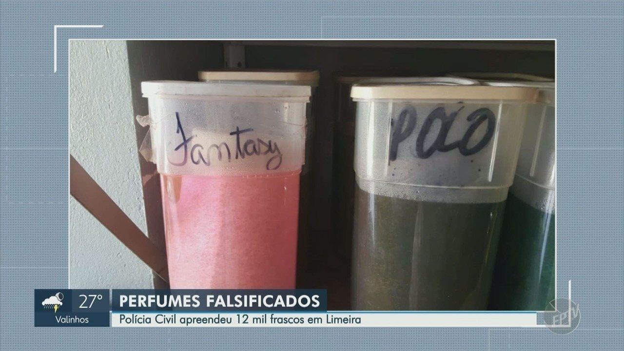 Polícia Civil fecha fábrica clandestina de perfumes em Limeira