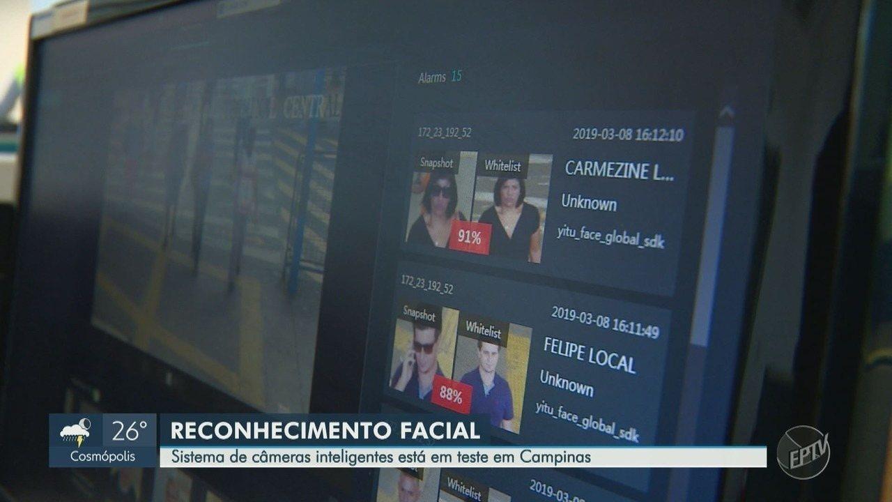 Sistema de câmeras com reconhecimento facial está em teste em Campinas