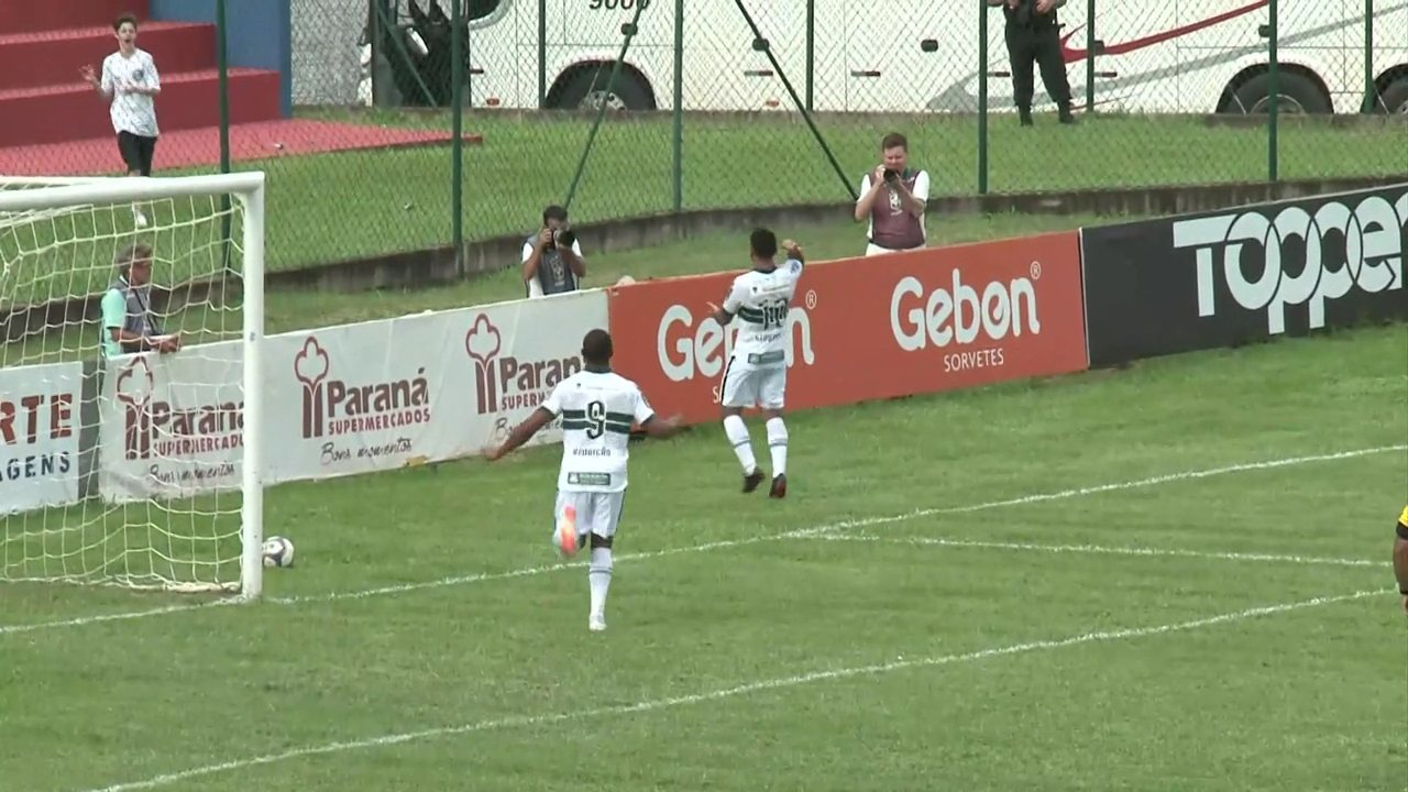 Gol do Coritiba! Thiago Lopes toca, Giovanni e encobre o goleiro e marca o segundo
