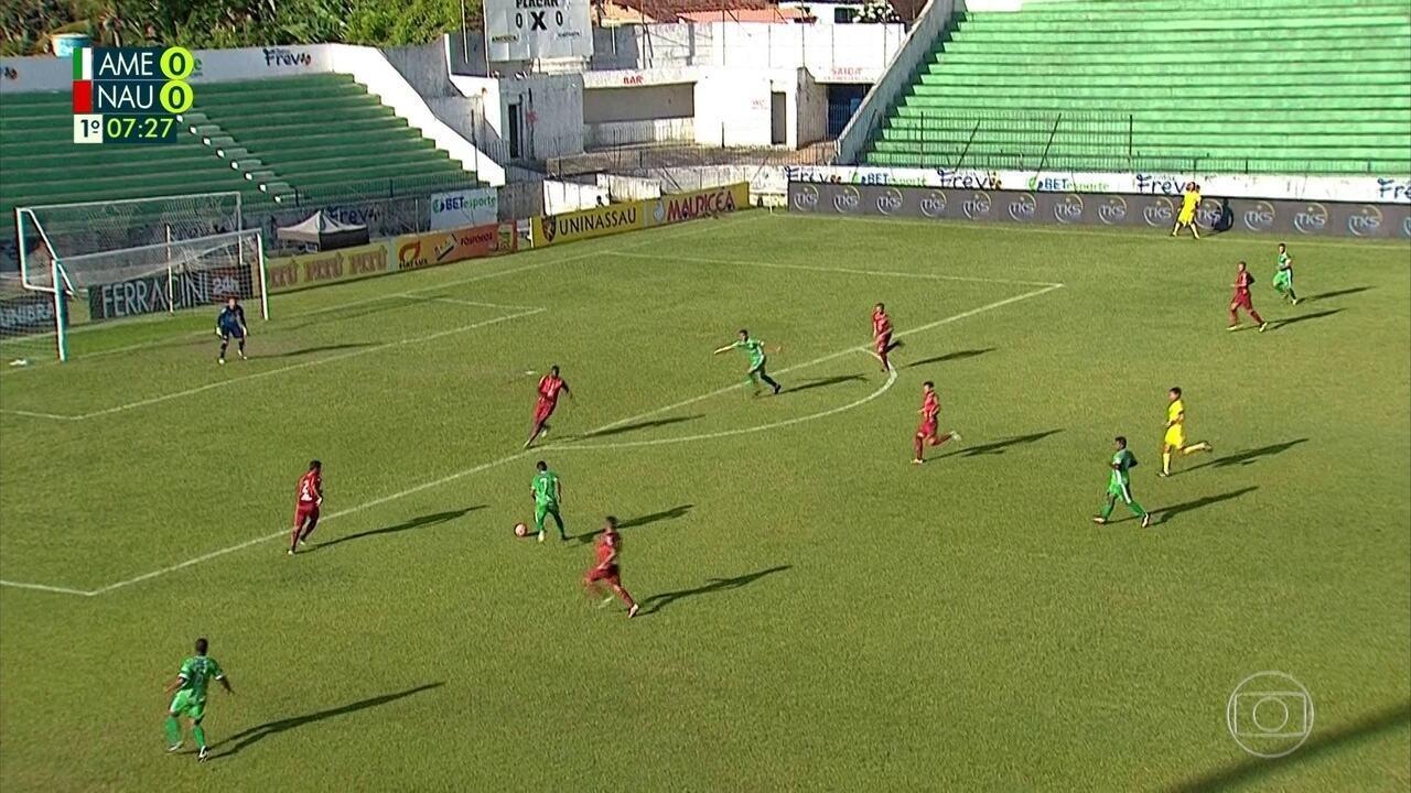 Assista aos melhores momentos de América-PE 0 x 1 Náutico pelo Pernambucano 2019
