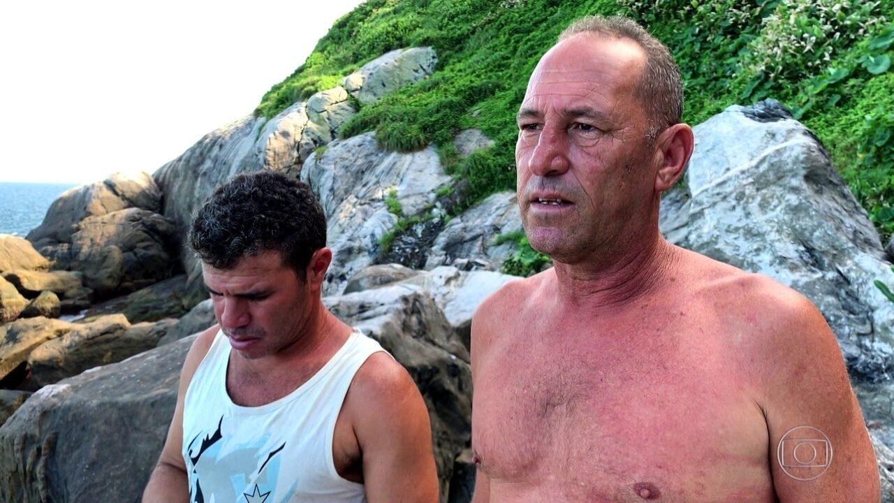 Três náufragos voltam à ilha infestada de cobras e falam sobre momentos de angústia