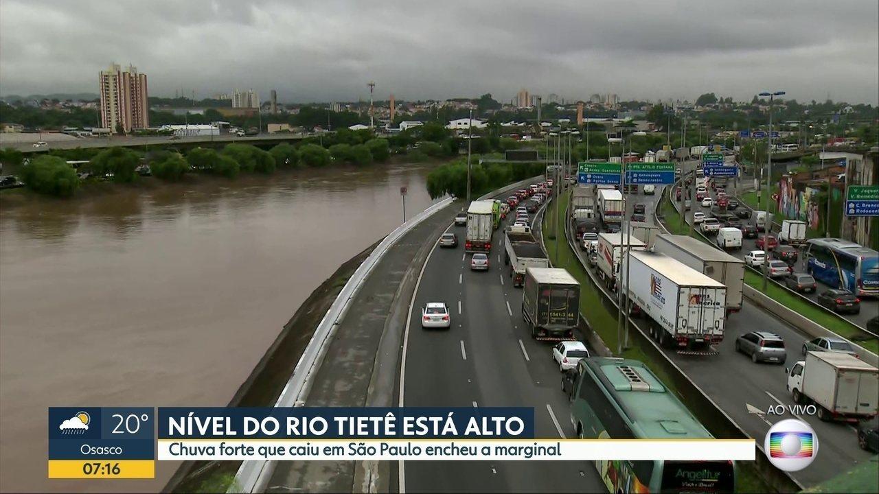 Nível do Rio Tietê está alto