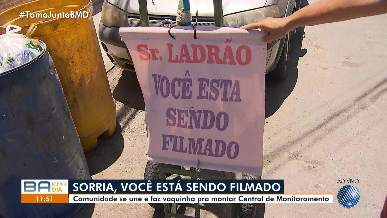 Moradores criam central de monitoramento para combater os crimes em rua da Caixa D'Água