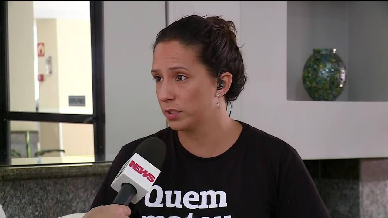 Viúva de Marielle, Mônica Benício, comenta prisões de dois suspeitos