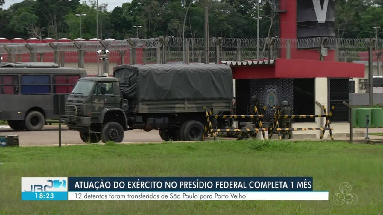 Atuação do Exército no presídio federal completa 1 mês