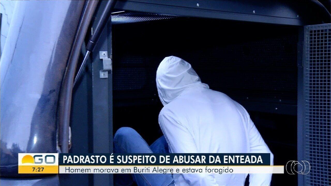 Homem é preso suspeito de abusar sexualmente da enteada, em Buriti Alegre
