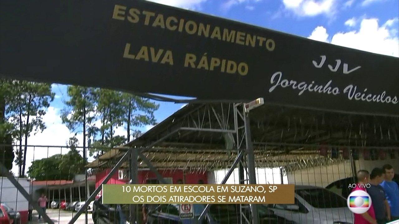 Polícia investiga relação entre crime em loja de veículos e massacre na escola