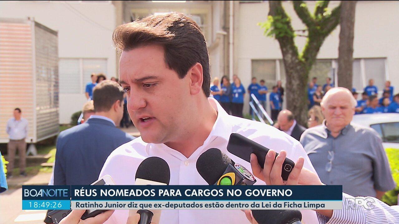 Ratinho Junior diz que todos do governo estão enquadrados na Lei da Ficha Limpa