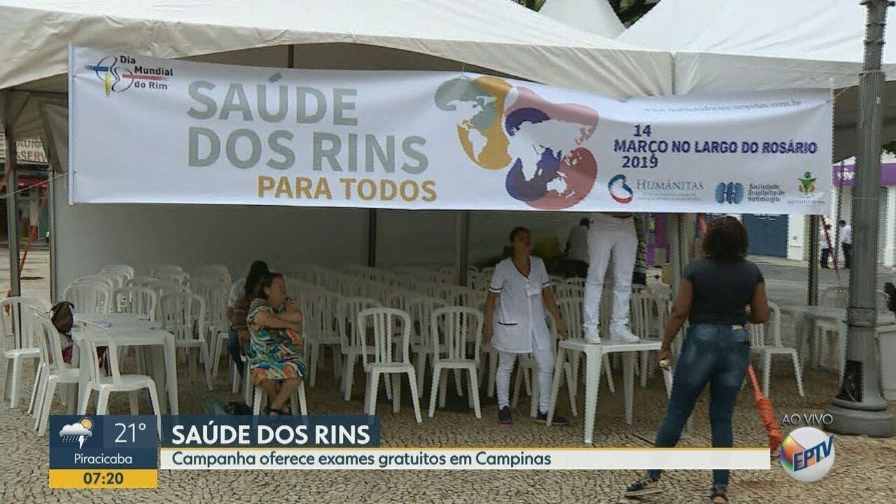 Campanha 'Saúde dos Rins' oferece exames gratuitos em Campinas