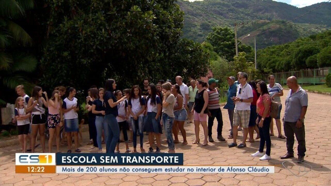 Mais de 200 alunos não conseguem estudar por falta de transporte em Afonso Cláudio