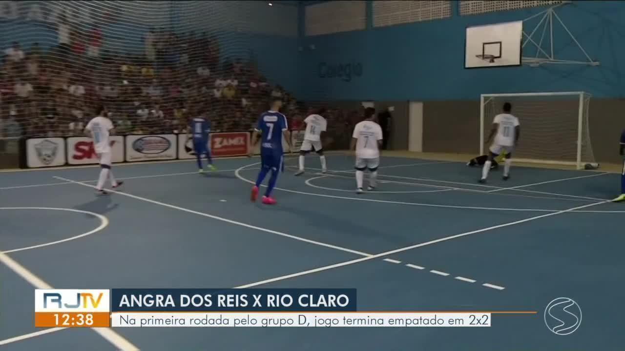 Angra dos Reis e Rio Claro empatam clássico pela Copa Rio Sul de Futsal