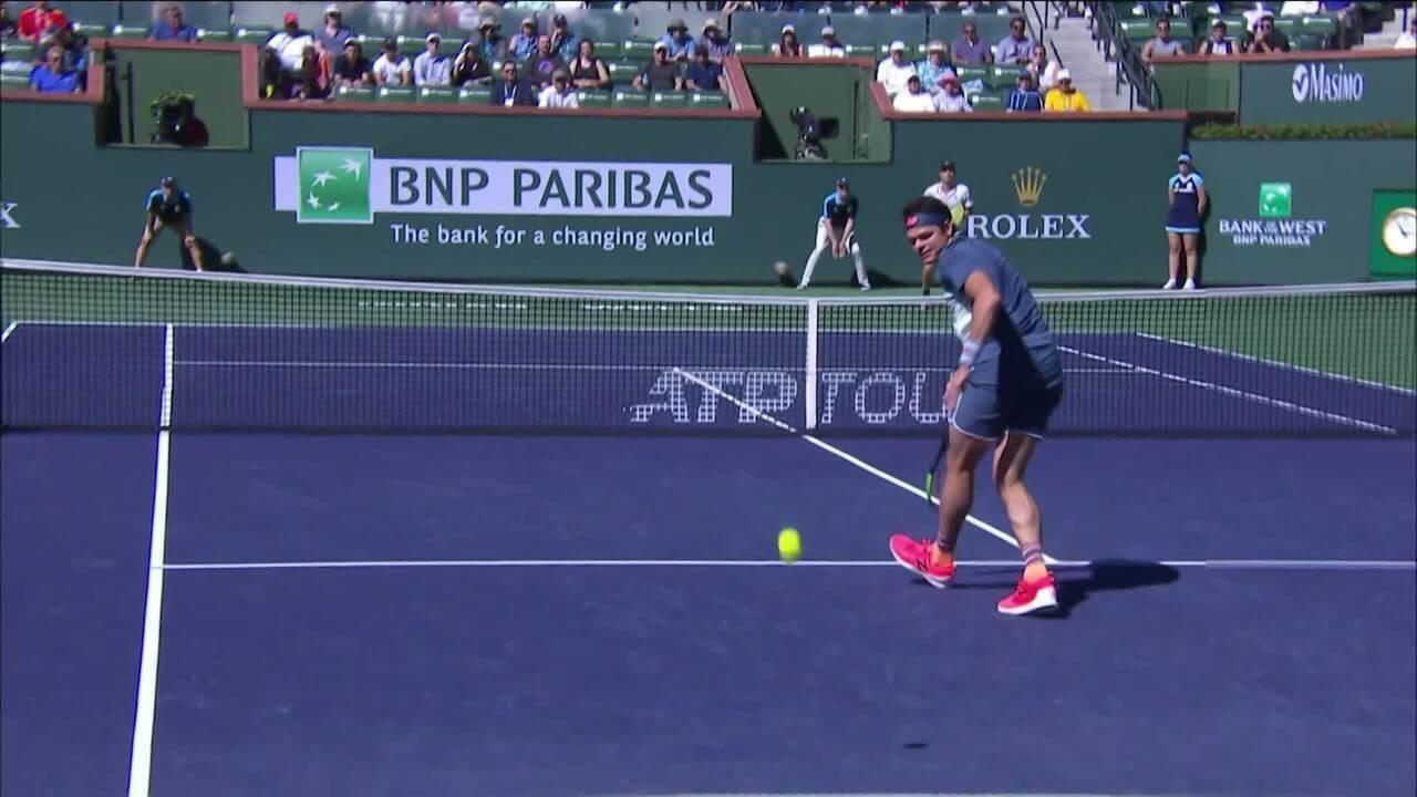 Veja o ponto sensacional de Kecmanovic em cima de Raonic no Masters 1000 de Indian Wells