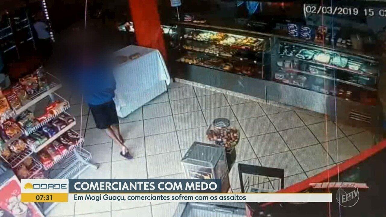 Comerciantes de Mogi Guaçu sofrem com os assaltos constantes