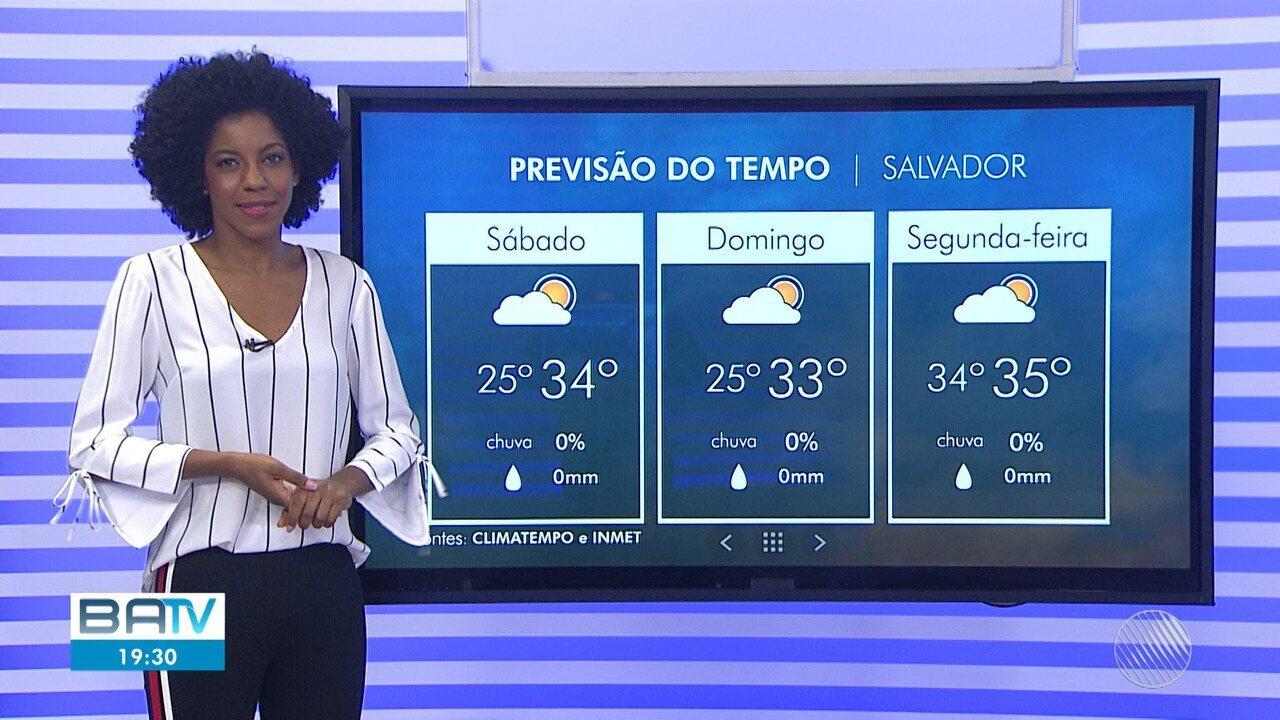 Previsão é de sol e calor em Salvador no último fim de semana do verão.