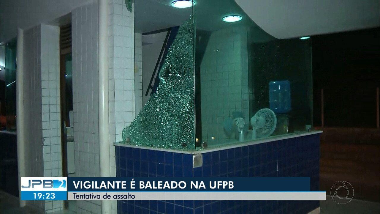 JPB2JP: Vigilante fica ferido durante tentativa de assalto na UFPB em João Pessoa