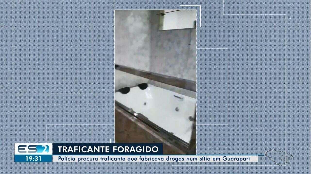 Traficante responsável por fabricação de drogas em sítio em Guarapari, ES, é identificado