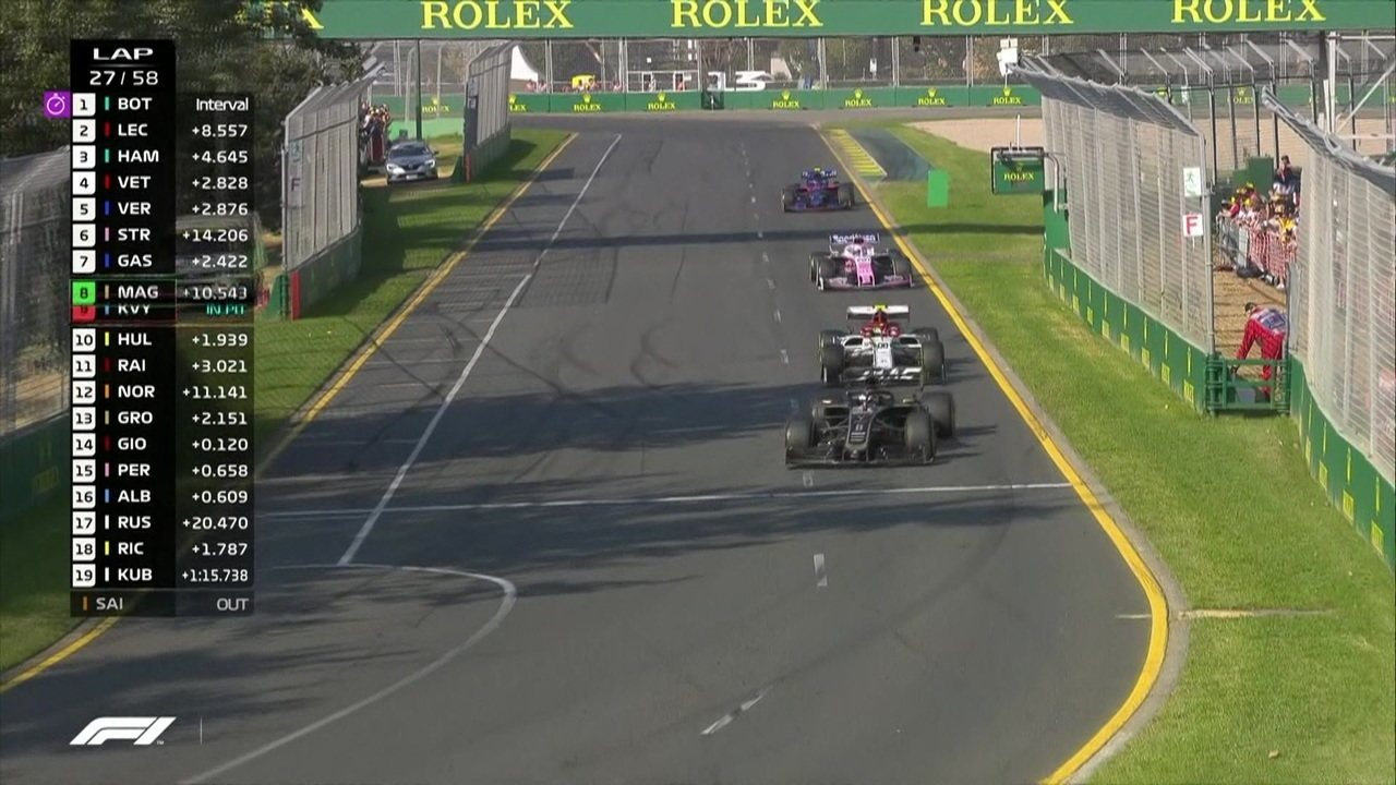 Giovinazzi é ultrapassado por Norris e Grosjean