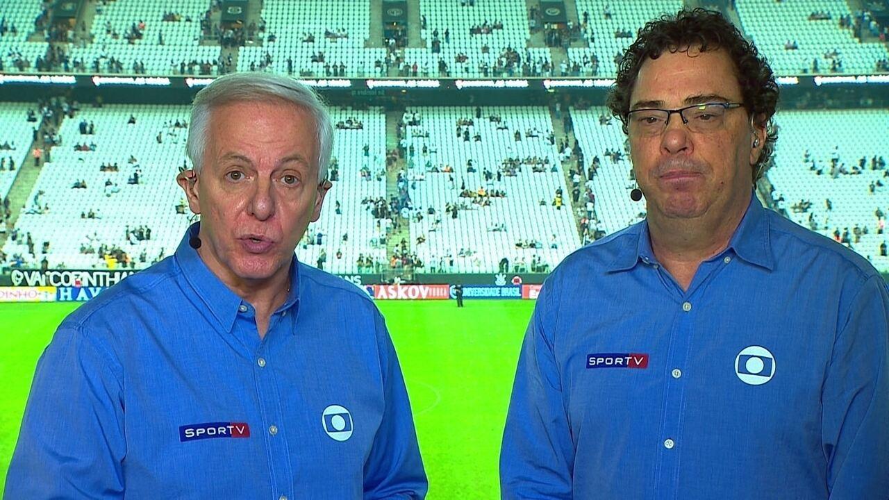 Casagrande comenta vitória do Corinthians e elogia evolução do time de Fabio Carille